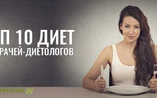Рейтинг диет для похудения по эффективности