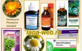 Лечение воспаления десен лекарственными травами