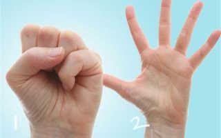 Гимнастика для кистей рук и пальцев