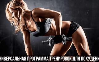 Комплекс упражнений для похудения для тренажерного зала