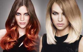 Покраска волос омбре: создаём модный образ своими руками