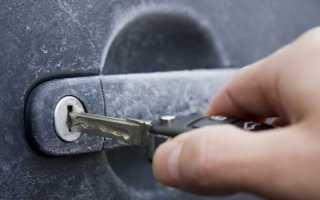 Что делать, если зимой замерзают двери и замке в автомобиле