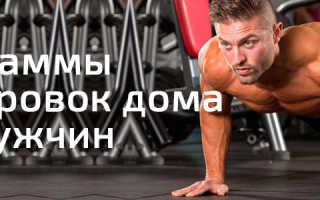 Комплекс силовых упражнений дома для мужчин