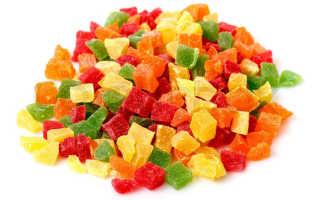 Польза и вред сладких цукатов