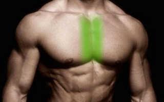 Как накачать середину грудных мышц