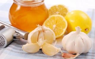 Мёд, чеснок и лимон – спасательный рецепт для организма