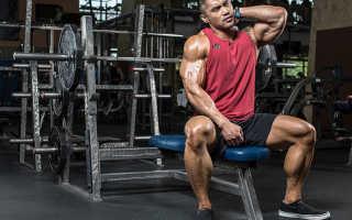 Таблица упражнений на все группы мышц